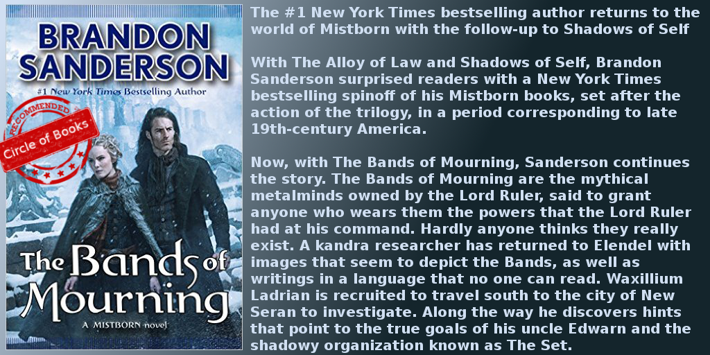 Th Bands of Mourning a mistborn Novel by Brandon Sanderson myadv