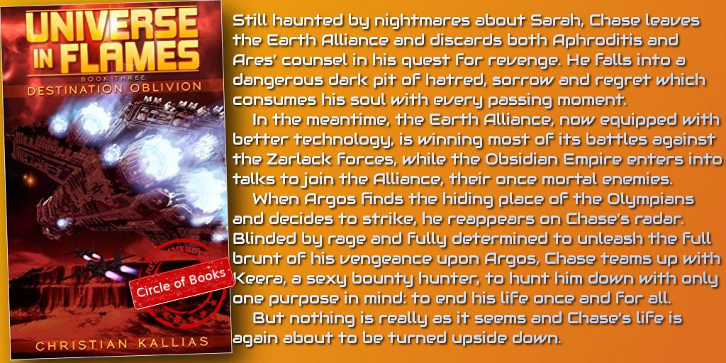 Destination Oblivion (Universe in Flames Book 3) by Christian Kallias tweet