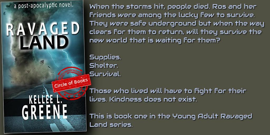 Ravaged Land - A Post-Apocalyptic Novel by Kellee L Greene tweet