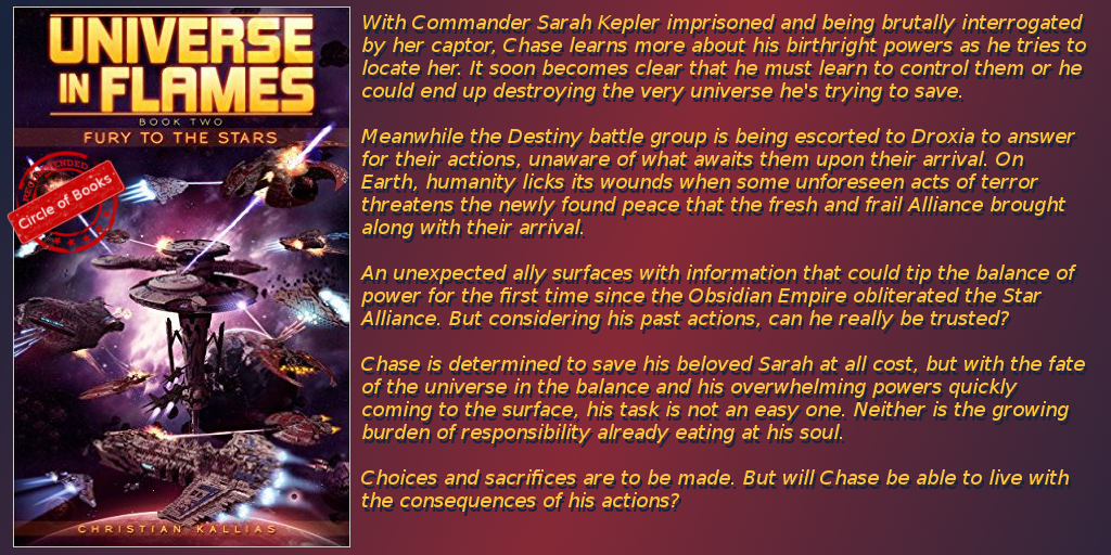 Universe in Flames second book - Fury to the Stars