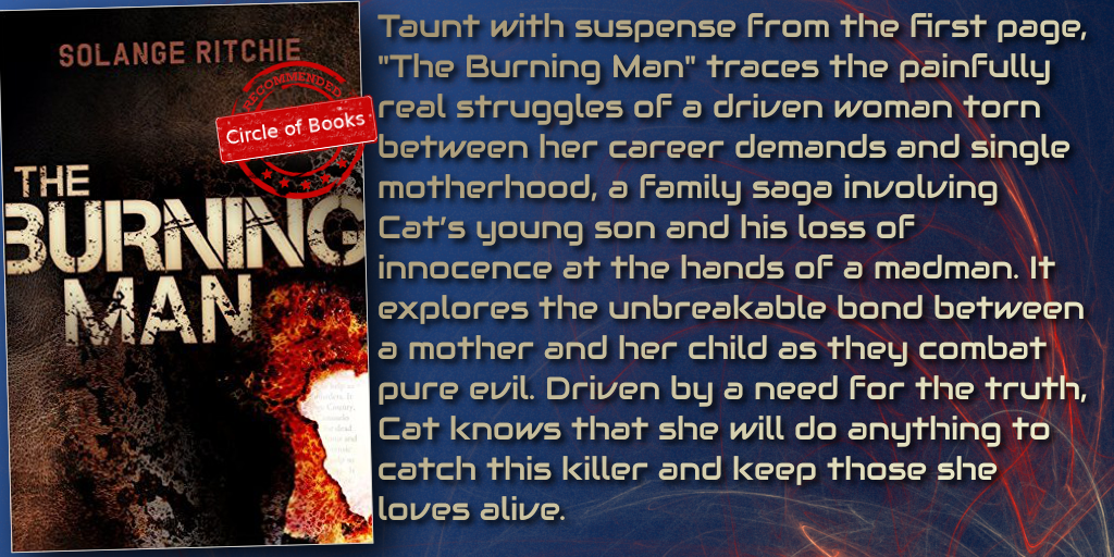 The Burning Man a psychological thriller by Solange Ritchie