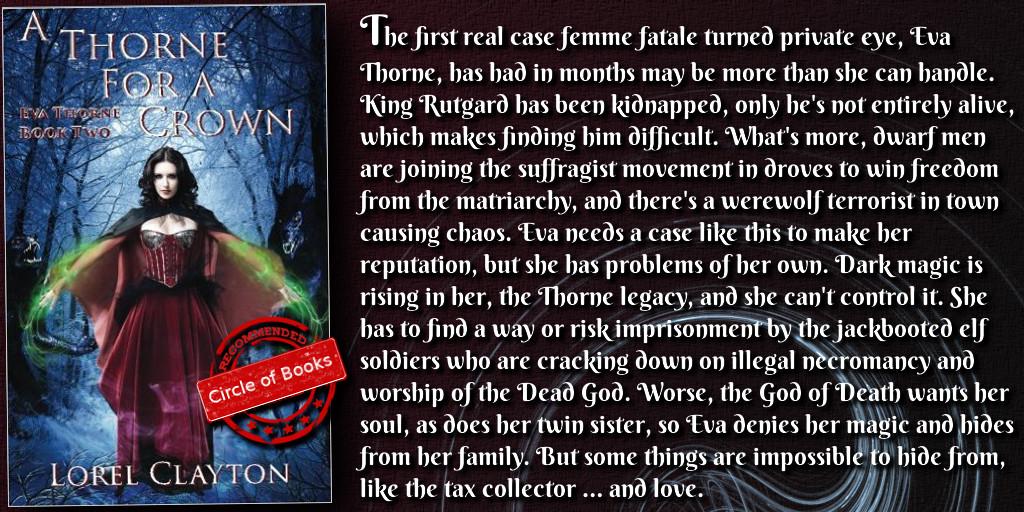 tweet A Thorne for a Crown - Eva Thorne Book 2 by Lorel Clayton
