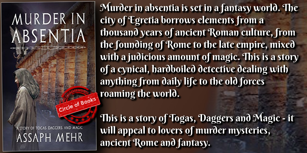 tweet Murder in Absentia - Togas, daggers, and magic - Feliz the Fox Book 1 by Assaph Mehr