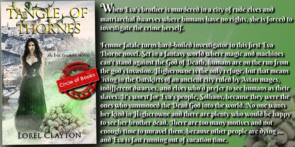 tweet Tangle of Thornes - An Eva Thorne Novel by Lorel Clayton myadv