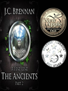 Cover A Fine Line The Ancients Part II by JC BRennan with Awards 2015