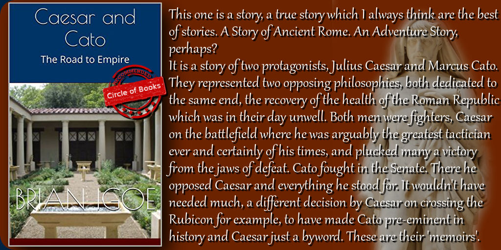 Tweet Caesar and Cato - The Road to Empire (Some Emperors of Rome Book 1) by Brian Igoe