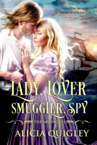 Cover Lady Lover Smuggler Spy - The Arlingby's book 3 by Alicia Quigley
