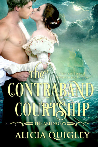 Cover The Contraband Courtship - The Arlingbys book 2 by Alicia Quigley