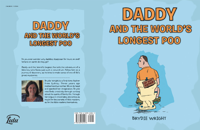 Daddy and the world's longest poo by Brydie Wright - full cover