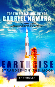 Front cover earthrise - stranded on the moon by Gabriel Namara october2017