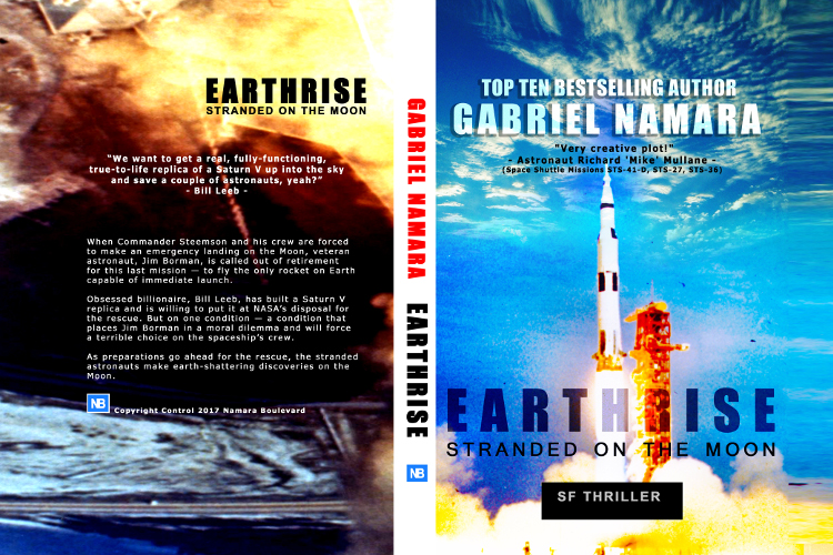 Full cover earthrise - stranded on the moon by Gabriel Namara october 2017
