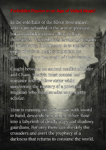 back cover Beneath the Silver Rose by T.S. Adrian