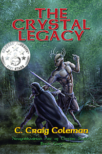 front cover The Crystal Legacy - the neuyokkasinian arc of empire series 2 by c craig Coleman
