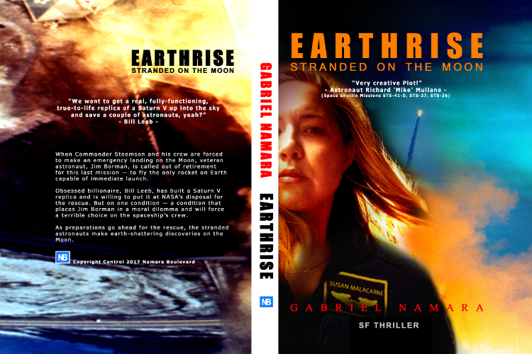 full cover Earthrise - stranded on the moon by Gabriel Namara