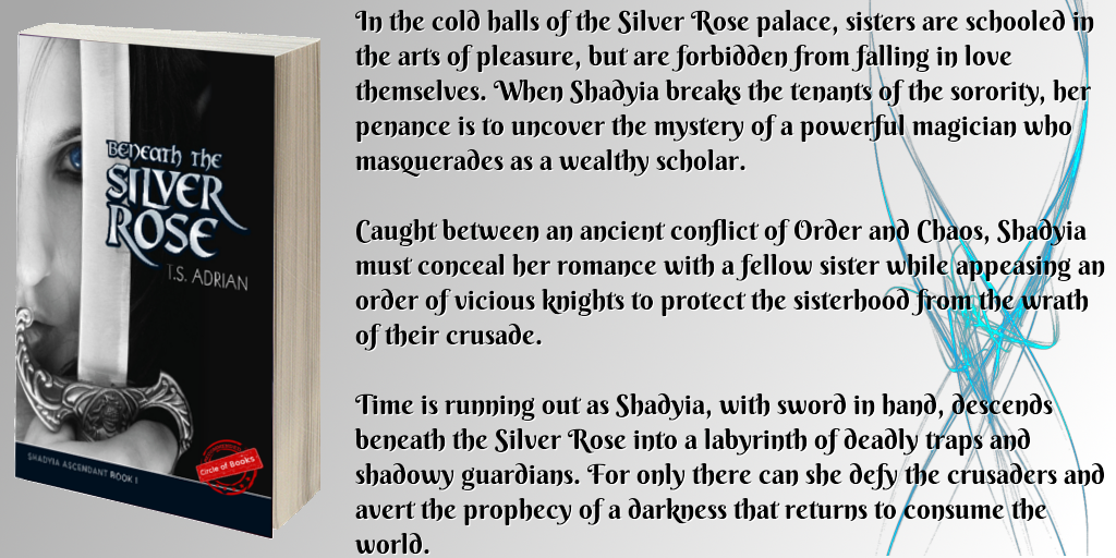 tweet Beneath the Silver Rose - Shadyia Ascendant book 1 by T.S. Adrian