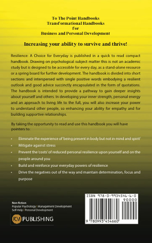 back cover Resilience by Jacqueline Mansell