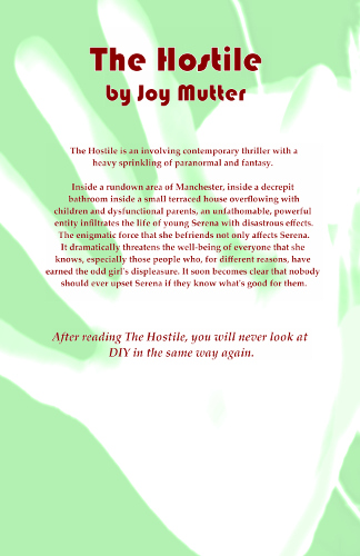 back cover The Hostile by Joy Mutter
