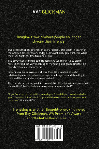 back cover frenzship by ray Glickman