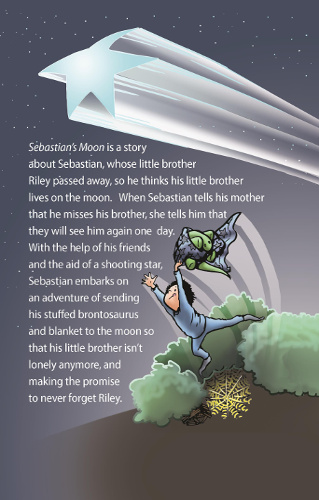 back cover Sebastian's Moon by David Villanueva Jr