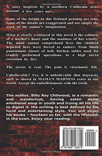 back cover Mama's Madness by Billy Ray Chitwood