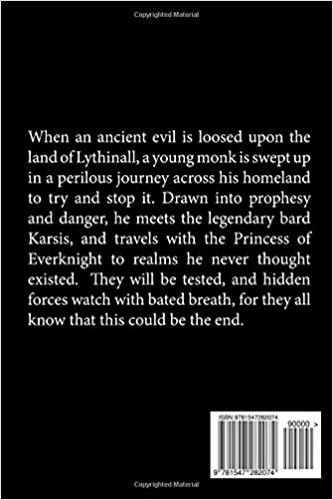 back cover The Darkness Returns (A Lythinall Novel) (Book 1) by Michael D. Nadeau