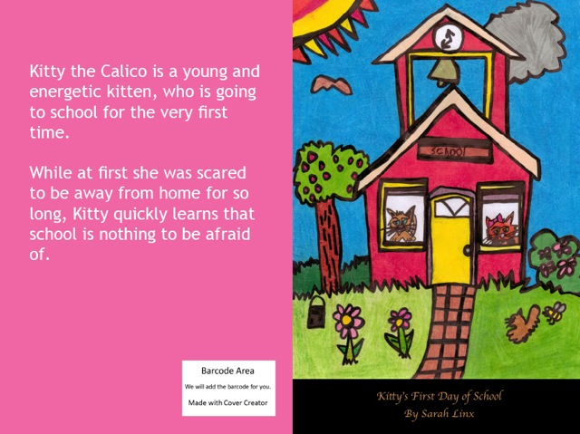 full cover kittys first day of school by sarah linx