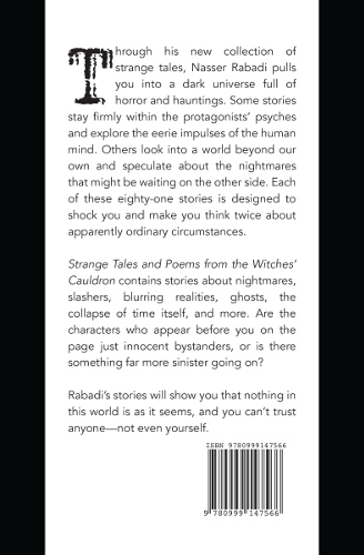 back cover Strange Tales and Poems from the Witches Cauldron by Nasser Rabadi