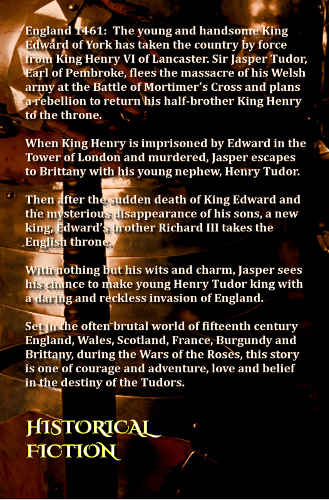 back cover Jasper - book 2 tudor trilogy by tony riches