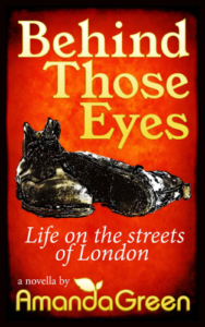 front cover Behind those eyes by amanda green