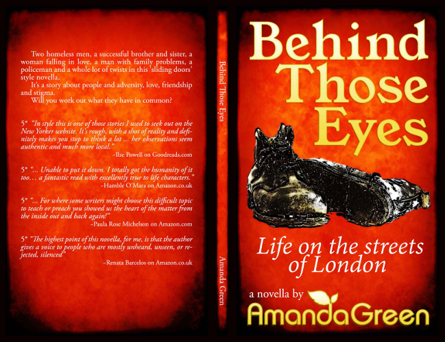 full cover Behind those eyes by amanda green
