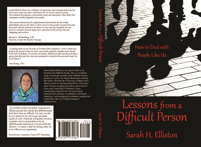 full cover Lessons from a difficult person by Sarah H. Elliston