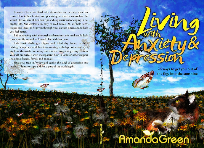 full cover Living with Anxiety and Depression by Amanda Green